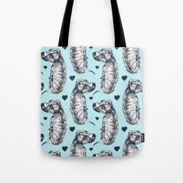 Brindle Dog Love Tote Bag