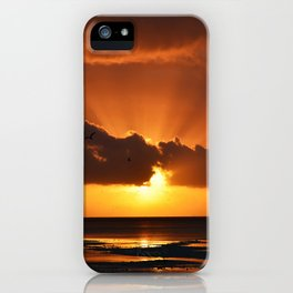 Behind the cloud. iPhone Case