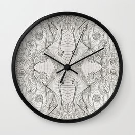 Lines (oh, let's enjoy the wild unknown, baby!) Wall Clock