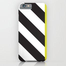 Memphis milano black yellow iPhone Case