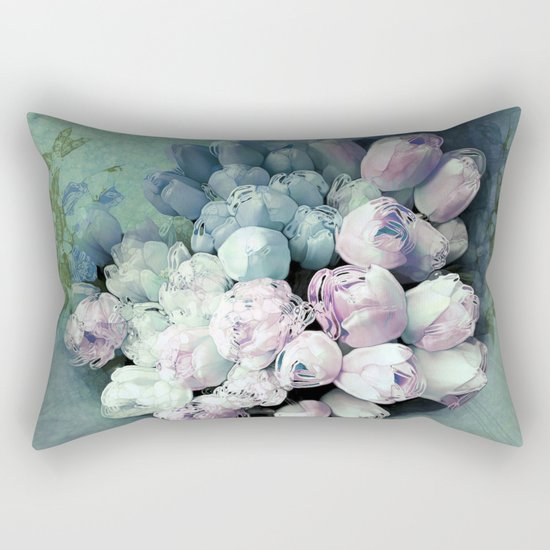 Tulips Antique Rectangular Pillow