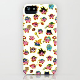 Kirby is swallowing everyone in here. iPhone Case