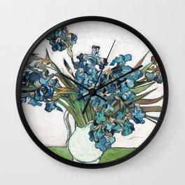 Vincent Van Gogh - Irises (new color editing) Wall Clock
