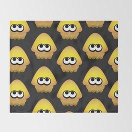 Splatoon Squid Pattern Yellow Throw Blanket