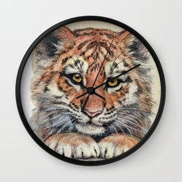 Cute Tiger Cub 903 Wall Clock
