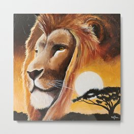 Animal - Lion - Quiet strength - by LiliFlore Metal Print