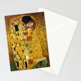 The Kiss Painting Gustav Klimt Stationery Cards