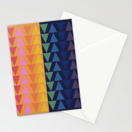 Day and Night Rainbow Triangles Stationery Cards