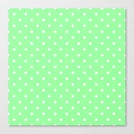 White Dots on Chrysoprase Canvas Print