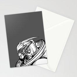 Garrus - B&W profile Stationery Cards