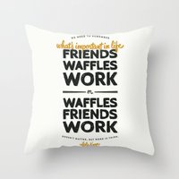 leslie knope Throw Pillows featuring Leslie Knope by thatfandomshop