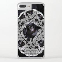 Bitter Rose Clear iPhone Case