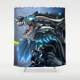 Shark Dragon Shower Curtain