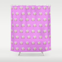 flying pigs pink Shower Curtain
