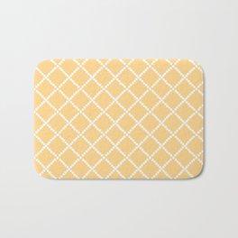 Criss Cross Yellow Bath Mat