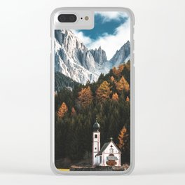 santa maddalena church in val di funes Clear iPhone Case