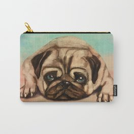 Cute Pug dog pastel Carry-All Pouch