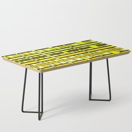Yellow grid Coffee Table