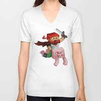 gore V-neck T-shirts featuring Hoojo of Minecraftia - Gore Edition by Angry Adventure