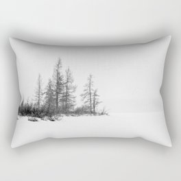 trees on white Rectangular Pillow