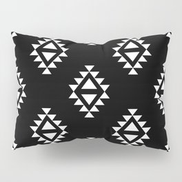 Linocut southwest minimal pattern black and white print scandinavian minimalism Pillow Sham