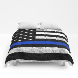 Thin Blue Line Comforters