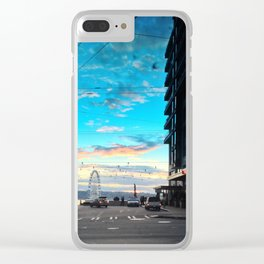 Seattle Summer Sunset Clear iPhone Case
