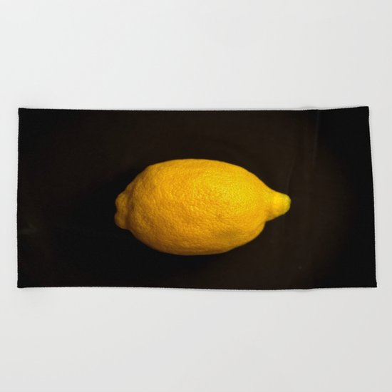 Yellow Lemon Beach Towel
