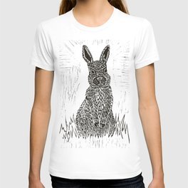 Rabbit Lino Print T-shirt