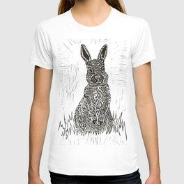 Rabbit Lino Print T-shirt