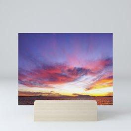 breathtaking sunset Mini Art Print