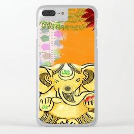 Golden Ganesha Om Clear iPhone Case
