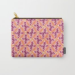 Raspberry Orange Repeat Carry-All Pouch