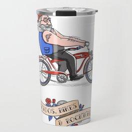 Tattoos, Bikes & Rock'n'roll Travel Mug