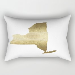 new york gold foil state map print niece ny state Rectangular Pillow