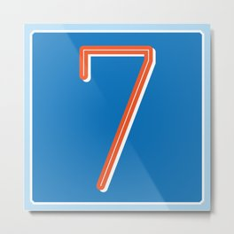 The Lucky Number Seven Metal Print