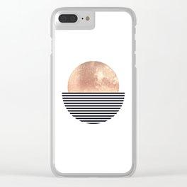 Rose Gold Sun - Scandinavian Art Clear iPhone Case
