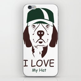 I Love My Hat iPhone Skin