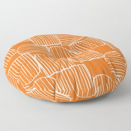 Mid-Century Modern 1950's Orange Juice Mimosa Colored Abstract Floor Pillow