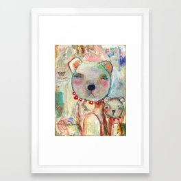 With One Heart, Connected Framed Art Print