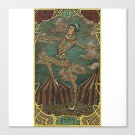 Ephemeral Art Nouveau Tarot: The Fool Canvas Print
