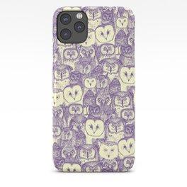 just owls purple cream iPhone Case