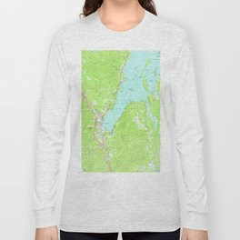 Vintage Map of Lake George New York (1966) 2 Long Sleeve T-shirt