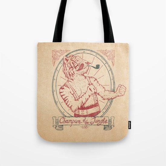 Champion of the Jungle Tote Bag