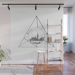Graphic . geometric shape gray London in a bottle Wall Mural