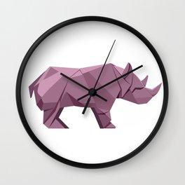 Origami Rhino Wall Clock