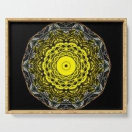 Yellow black design Serving Tray