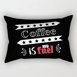 Coffee is my fuel Rectangular Pillow