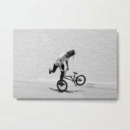 Flatland BMX Rider Metal Print