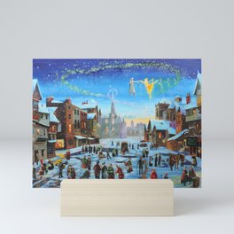 """A Christmas Carol """"Scrooge and the ghost of Christmas past"""" Mini Art Print"""